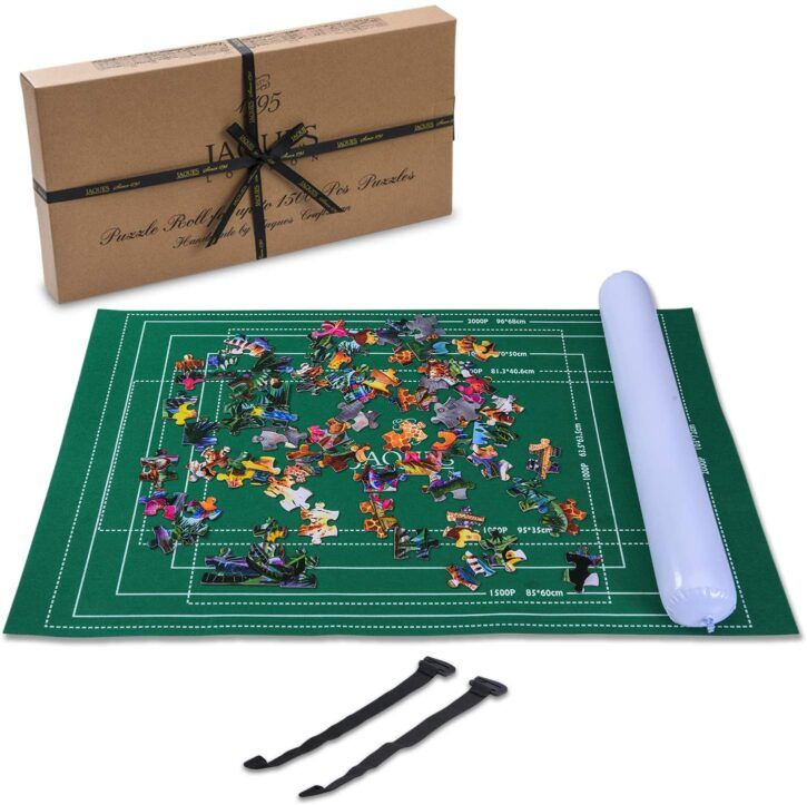 Jaques of London Puzzle Inflable Roll Upto 1500 Pcs - Tapete Puzzle con Paño Plegable