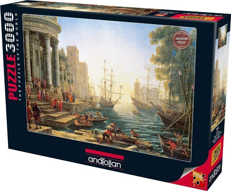 Anatolian - Lorrain Seaport with the Embarkation of St. Ursula - Puzzle 3000 piezas